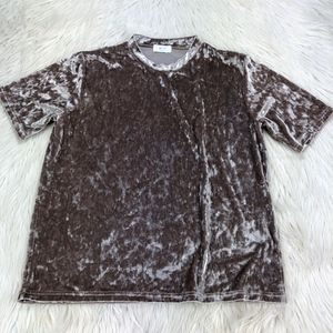 MF Clothing Crushed Velvet Crew Tee